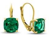 7x7mm Cushion Simulated Emerald Lever-back Earrings style: E8117SIME14KY