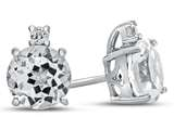 10k White Gold 7mm Round White Topaz Earrings style: E823713