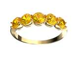 Finejewelers 10 kt Yellow Gold 4mm Citrine 5 Stone Band Ring style: FJC5010KYC