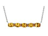 Finejewelers Sterling Silver Necklace Pendant with 5 Oval Citrine Stones style: N4372CIT