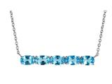 Finejewelers Sterling Silver Necklace Pendant with 5 Oval Swiss Blue Topaz Stones style: N4372SWBT