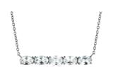 Finejewelers Sterling Silver Necklace Pendant with 5 Oval White Topaz Stones style: N4372WT