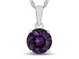 10kt White Gold 7mm Round Simulated Alexandrite Pendant Necklace style: P1078209