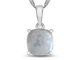 10kt White Gold 7mm Cushion Created Opal Pendant Necklace style: P1078302