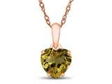 Finejewelers 10k Rose Gold 7mm Heart Shaped Citrine Pendant Necklace style: P1078601P