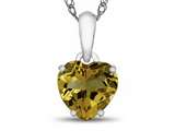 10kt White Gold 7mm Heart Shaped Citrine Pendant Necklace style: P1078601