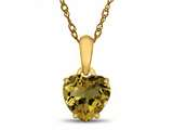 Finejewelers 10k Yellow Gold 7mm Heart Shaped Citrine Pendant Necklace style: P1078601Y