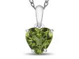10k White Gold 7mm Heart Shaped Peridot Pendant Necklace style: P1078608