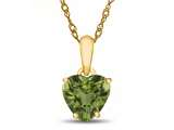 Finejewelers 10k Yellow Gold 7mm Heart Shaped Peridot Pendant Necklace style: P1078608Y