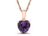 Finejewelers 10k Rose Gold 7mm Heart Shaped Simulated Alexandrite Pendant Necklace style: P1078609P