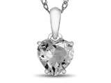 10kt White Gold 7mm Heart Shaped White Topaz Pendant Necklace style: P1078613