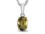 10kt White Gold 7x5mm Oval Citrine Pendant Necklace style: P1078701