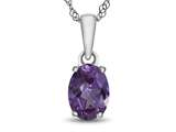 10kt White Gold 7x5mm Oval Simulated Alexandrite Pendant Necklace style: P1078709