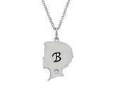 Finejewelers Boy Personalized Initial B Alphabet Pendant Necklace with CZ  16 to 18 Inch Adjustable Chain style: P8731B