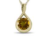 7mm Round Citrine Twist Pendant Necklace style: P8806C10KY