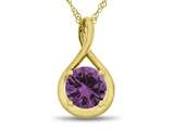 Finejewelers 7mm Round Created Pink Sapphire Twist Pendant Necklace - Chain Included style: P8806CRPS10KY