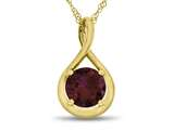 7mm Round Created Ruby Twist Pendant Necklace style: P8806CRR10KY