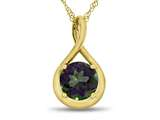 7mm Round Mystic Topaz Twist Pendant Necklace style: P8806MT10KY