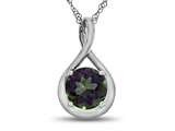 7mm Round Mystic Topaz Twist Pendant Necklace style: P8806MT
