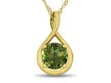 7mm Round Peridot Twist Pendant Necklace style: P8806P10KY