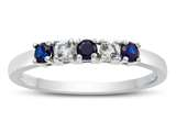 2.5mm Created Sapphire and White Topaz Band / Ring style: R10049MUL17