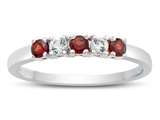 Finejewelers 2.5mm Garnet and White Topaz Band / Ring style: R10049MUL18