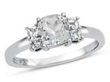 6x6mm Cushion White Topaz Ring style: R10567SPWT10KW