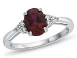 10kt White Gold 8x6mm Oval Created Ruby and White Topaz Ring style: R10678MUL310KW