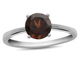 10k White Gold 7mm Round Garnet Ring style: R1078206