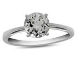 10k White Gold 7mm Round White Topaz Ring style: R1078213