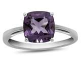 10k White Gold 7mm Cushion Amethyst Ring style: R1078300