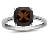 10kt White Gold 7mm Cushion Garnet Ring style: R1078306