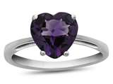 10k White Gold 7mm Heart Shaped Amethyst Ring style: R1078600