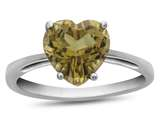 10k White Gold 7mm Heart Shaped Citrine Ring style: R1078601