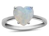 10k White Gold 7mm Heart Shaped Created Opal Ring style: R1078602