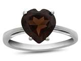 10k White Gold 7mm Heart Shaped Garnet Ring style: R1078606