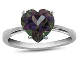 Finejewelers 10k White Gold 7mm Solitaire Heart Shaped Mystic Topaz Ring style: R1078607