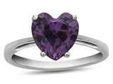 10k White Gold 7mm Heart Shaped Simulated Alexandrite Ring style: R1078609
