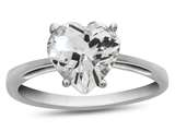 10k White Gold 7mm Heart Shaped White Topaz Ring style: R1078613