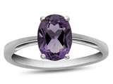 10k White Gold 7x5mm Oval Amethyst Ring style: R1078700
