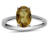 10k White Gold 7x5mm Oval Citrine Ring style: R1078701