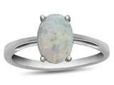 10k White Gold 7x5mm Oval Created Opal Ring style: R1078702