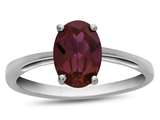 10k White Gold 7x5mm Oval Created Ruby Ring style: R1078704