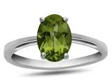 10k White Gold 7x5mm Oval Peridot Ring style: R1078708