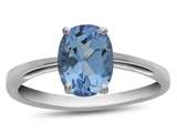 Finejewelers 10k White Gold 7x5mm Solitaire Oval Swiss Blue Topaz Ring style: R1078712