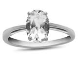 10k White Gold 7x5mm Oval White Topaz Ring style: R1078713