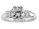 Finejewelers 8mm White Round Cubic Zirconia Ring style: R7982CZ