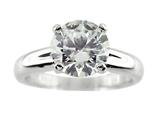 Finejewelers 8mm White Round Cubic Zirconia Ring style: R7983CZ