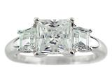 Finejewelers 7x7mm White Cubic Zirconia Ring style: R7986CZ