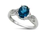 Finejewelers Oval London Blue Topaz 9x7 Promise Ring style: RCCLBT